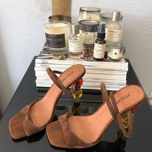 Jeffrey Campbell  Women's Brown Gema Sandal